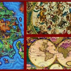 Пазл онлайн: Карты