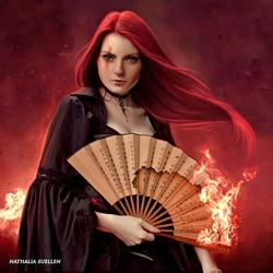 Пазл онлайн: Она горит