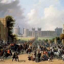 Пазл онлайн: Поездка короля Луи-Филиппа в Виндзорский замок 8 октября 1844 года