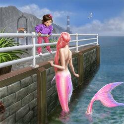 Пазл онлайн: Адора и розовая русалка
