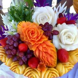 Пазл онлайн: Фруктово-овощная композиция