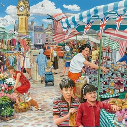 Пазл онлайн: Поездка на рынок