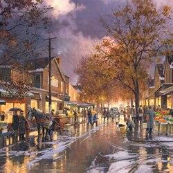 Пазл онлайн: Осенний городок