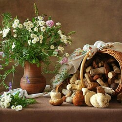 Пазл онлайн: С грибами