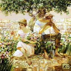Пазл онлайн: Добрый садовник