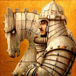Пазл онлайн: Белый конь