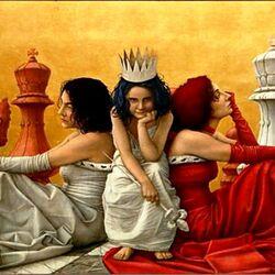 Пазл онлайн: Пешка-королева