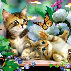 Пазл онлайн: Поймай бабочку