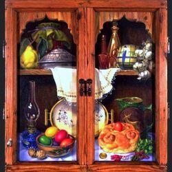 Пазл онлайн: Старый шкаф