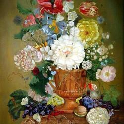 Пазл онлайн: Натюрморт с цветами