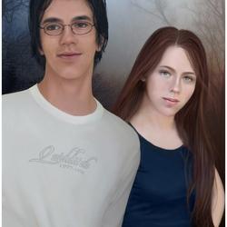 Пазл онлайн: Лили и Джеймс