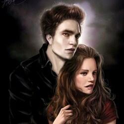 Пазл онлайн: Эдвард  и Белла