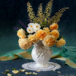 Пазл онлайн: Прощальная соната для осенних роз