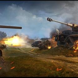 Пазл онлайн: Танковый бой