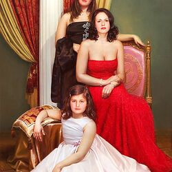 Пазл онлайн: Портрет Оксаны с дочерьми