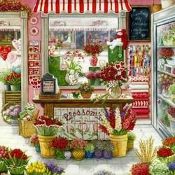 Пазл онлайн: Цветочная лавка