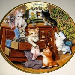 Пазл онлайн: Январские котята