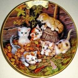 Пазл онлайн: Октябрьские котята