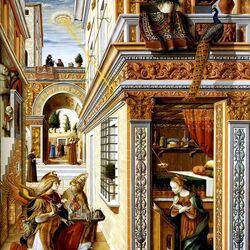 Пазл онлайн: Фреска ''Annunciation''