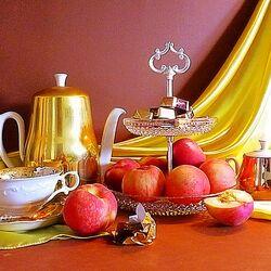 Пазл онлайн: Чай, персики