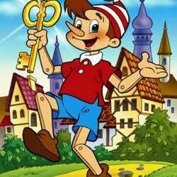 Пазл онлайн: Золотой ключик или Приключения Буратино