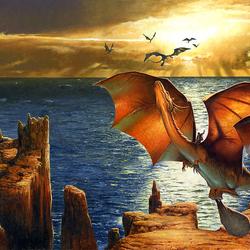 Пазл онлайн: Заря драконов