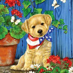 Пазл онлайн: Patriotic Puppy/Американец
