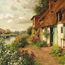 Пазл онлайн: The Blue Cottage