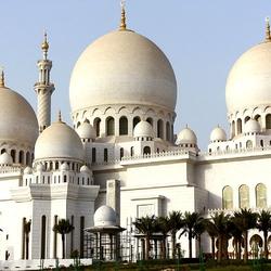 Пазл онлайн: Белая мечеть шейха Заида в Абу-Даби