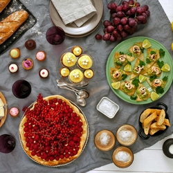 Пазл онлайн: Мучные блюда