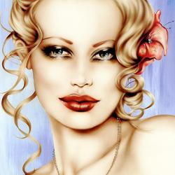 Пазл онлайн: Чувственная блондинка