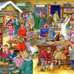 Пазл онлайн: Рождественские покупки