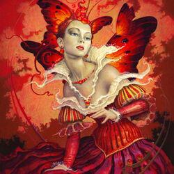 Пазл онлайн: Королева бабочек