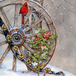 Пазл онлайн: Зимняя идиллия