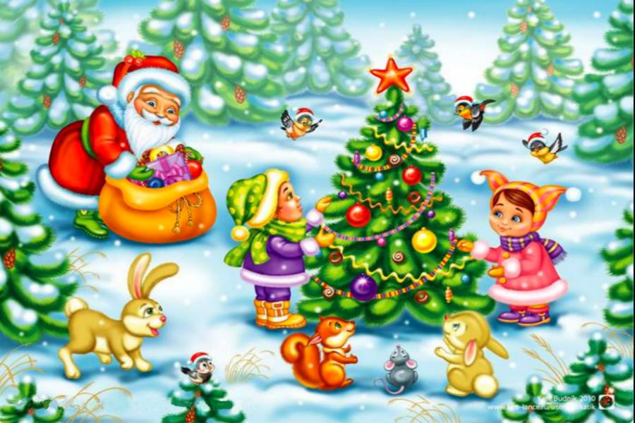 Картинки новогодние в детском саду