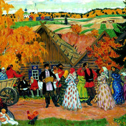 Пазл онлайн: Осенний сельский праздник