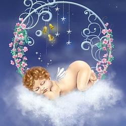Пазл онлайн: Спящий ангел