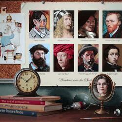Пазл онлайн: Картины в картинах / Окна в душу