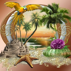 Пазл онлайн: Солнечные тропики