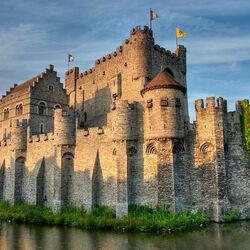 Пазл онлайн: Замок графов Фландрии. Гент. Бельгия