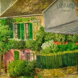 Пазл онлайн: Париж, старый Монмартр