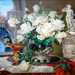 Пазл онлайн: Розы Венеции