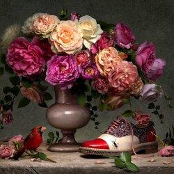 Пазл онлайн: Цветочный каталог Кристиана Лубутена