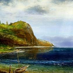 Пазл онлайн: Художник у моря