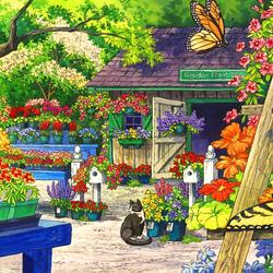 Пазл онлайн: Магазин для садоводов