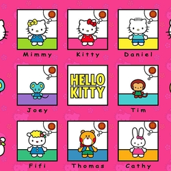 Пазл онлайн: Hello Kitty
