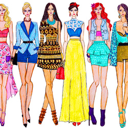 Пазл онлайн:  Модные наброски