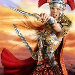 Пазл онлайн: Римская воительница