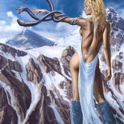 Пазл онлайн: Снежная колдунья