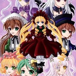 Пазл онлайн: Куклы Rozen Maiden